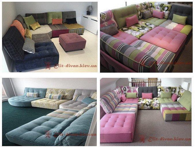 цветные модульные диваны под заказ в Киеве