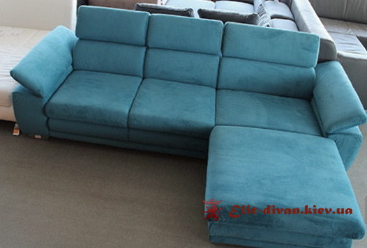 синий диван для гостиной на заказ