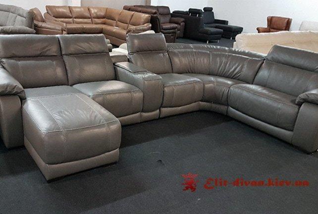 серый умный диван фирменый итальянский