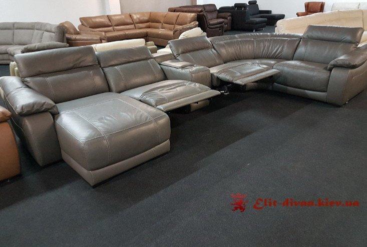 дорогой диван фирменный серый заказной