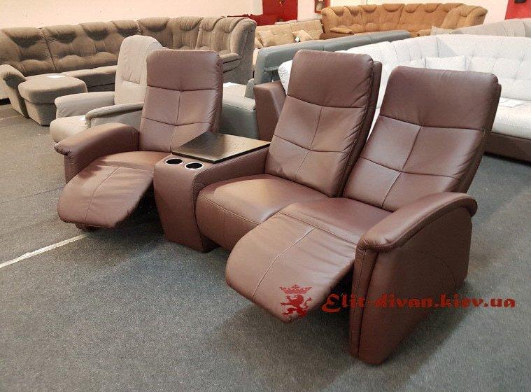 кресла с системой релакс из кожи