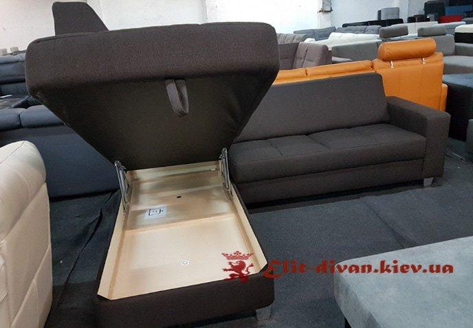 фирменная мягкая мебель под заказ с нишей для белья