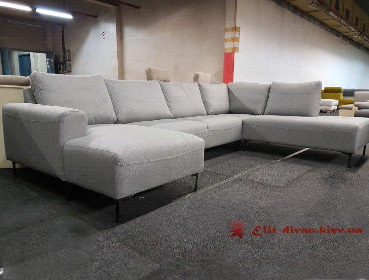 белый диван формы п