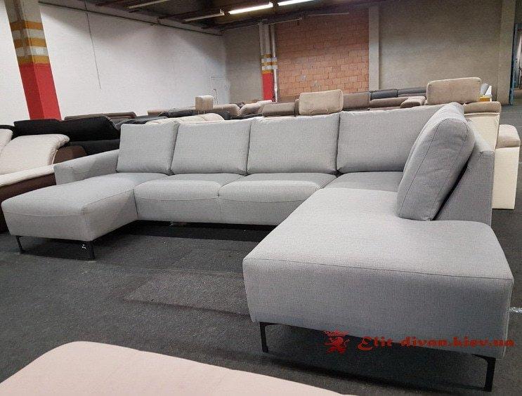 фирменный белый диван формы п