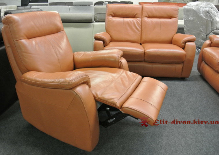 кресло из кожи элит