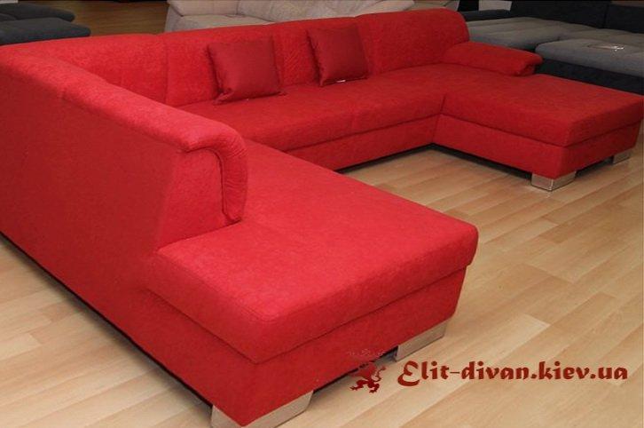 красный п образный диван модульный на заказ