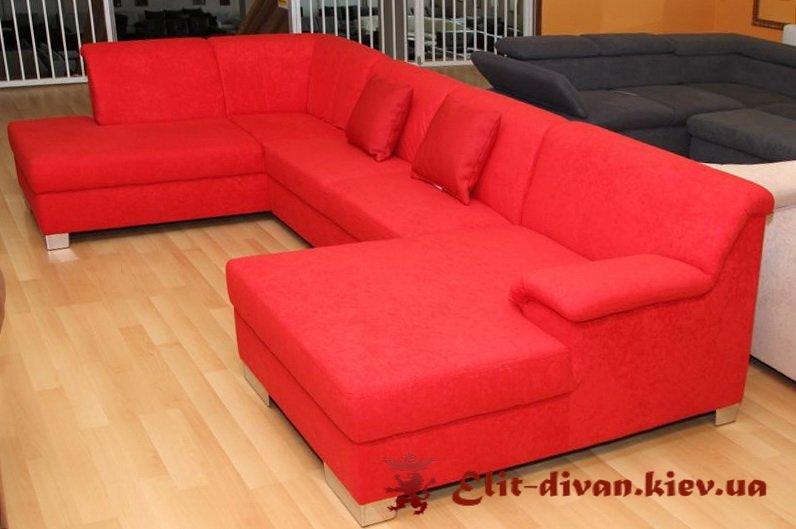 изготовление мягкой мебели красного цвета под заказ