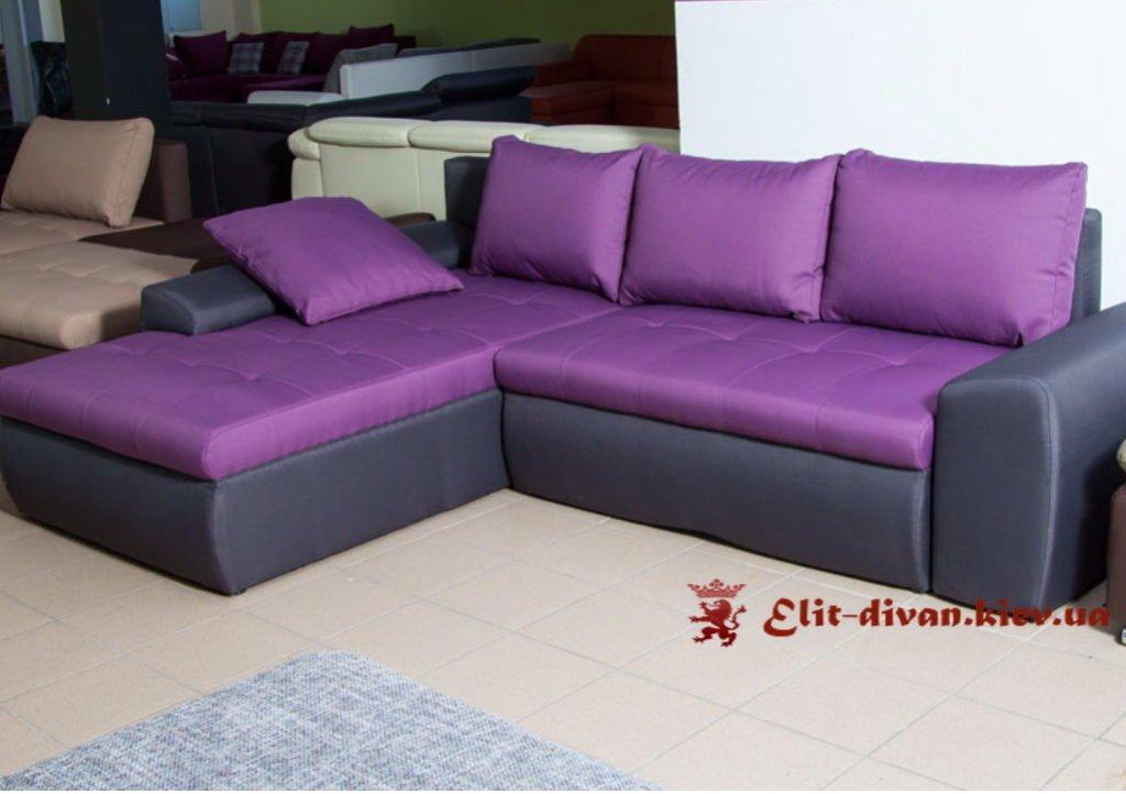 раскладной сиреневый диван на заказ