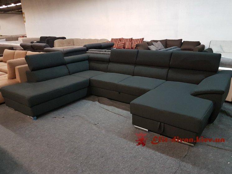 черный диван со спальным местом на заказ