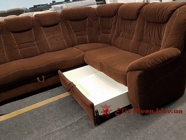 бархатный раскладной диван