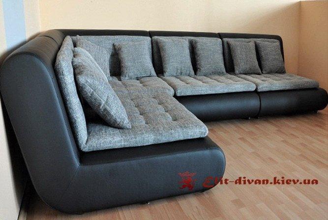 угловой раскладной модульный круглый классический диван со спальным местом