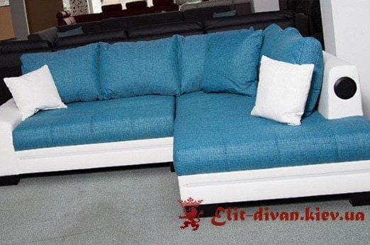 голубой классический диван кровать на заказ