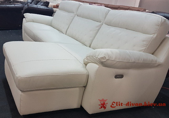 белый диван с реклайнером