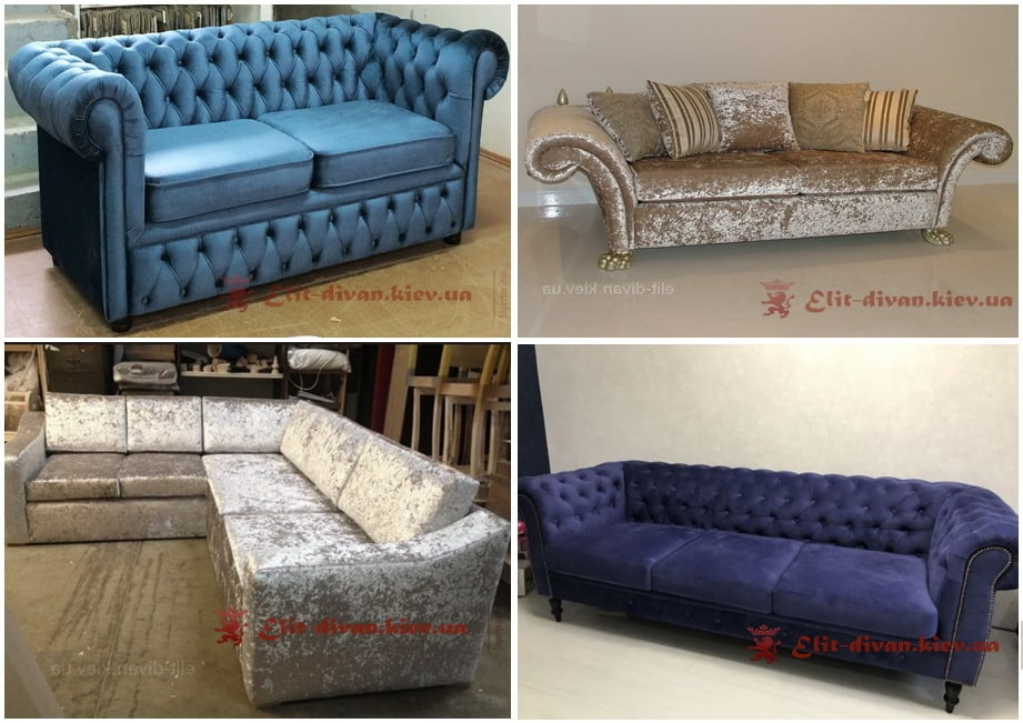 мягкая мебель из велюра под заказ