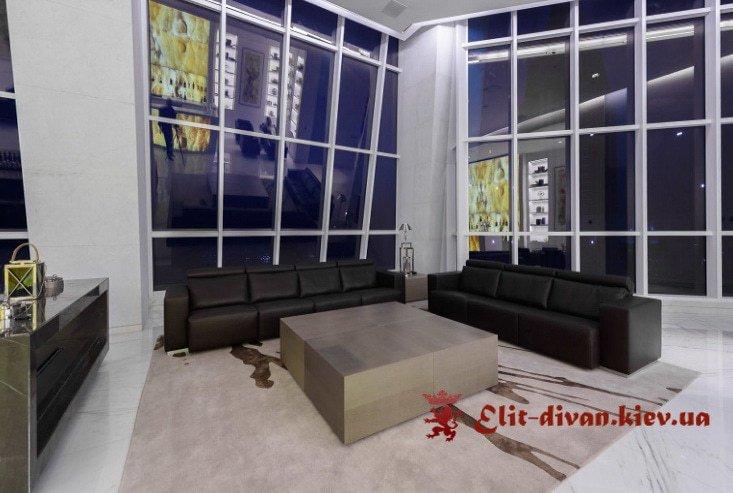 два прямых дивана для студии под заказ