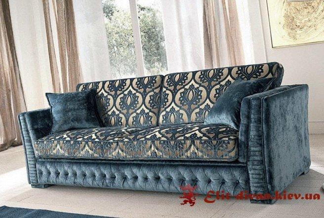 классический синий диван