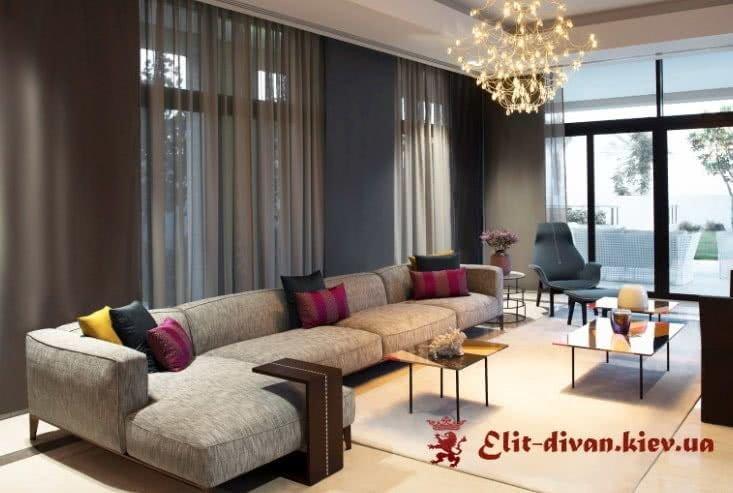 фотографии красивых угловых дизайнерских диванов