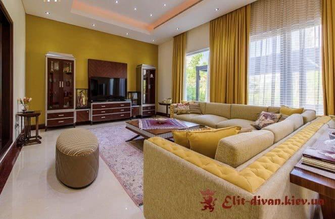 элитный угловой диван для квартиры