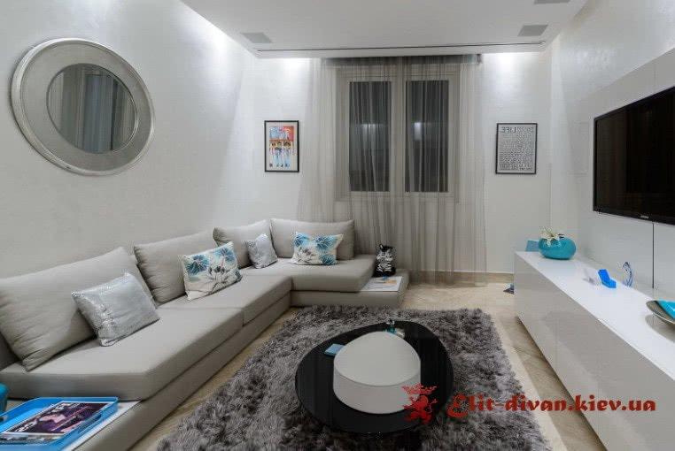 элитный угловой диван для квартиры студии на заказ