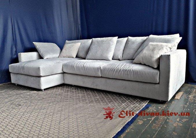 белый угловой дива с подушками от производителя под заказ