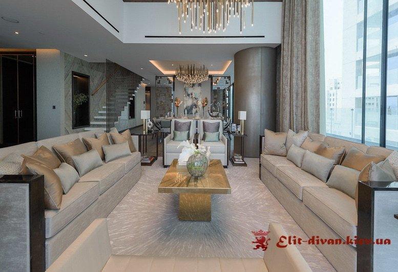 Два прямых дивана в гостиную