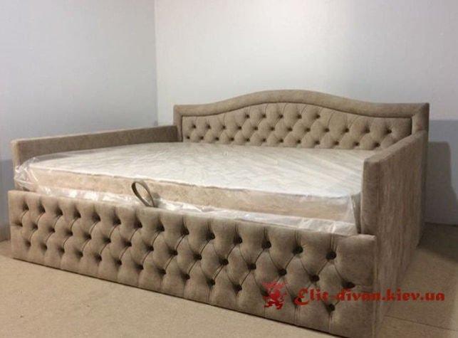 синий прямой необычный дизайнерский диван под заказ в Киеве