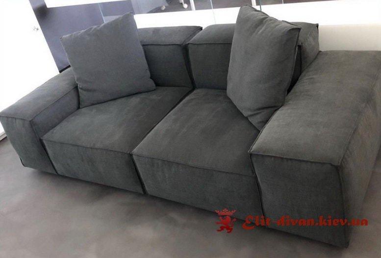 бескаркасный серый диван под заказ