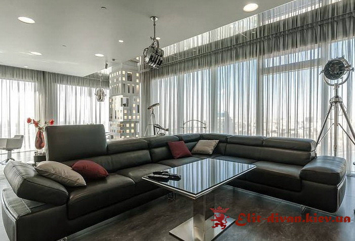 модульная темная мягкая мебель под заказ в Киеве