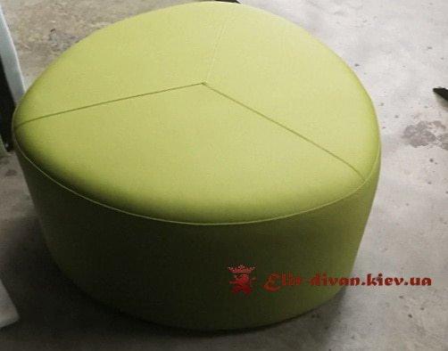 треугольный пуф зеленый на заказ