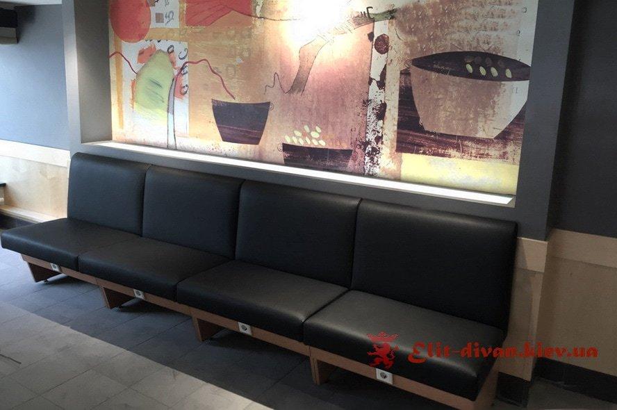 кожаная мебель в кафе на заказ в Киеве