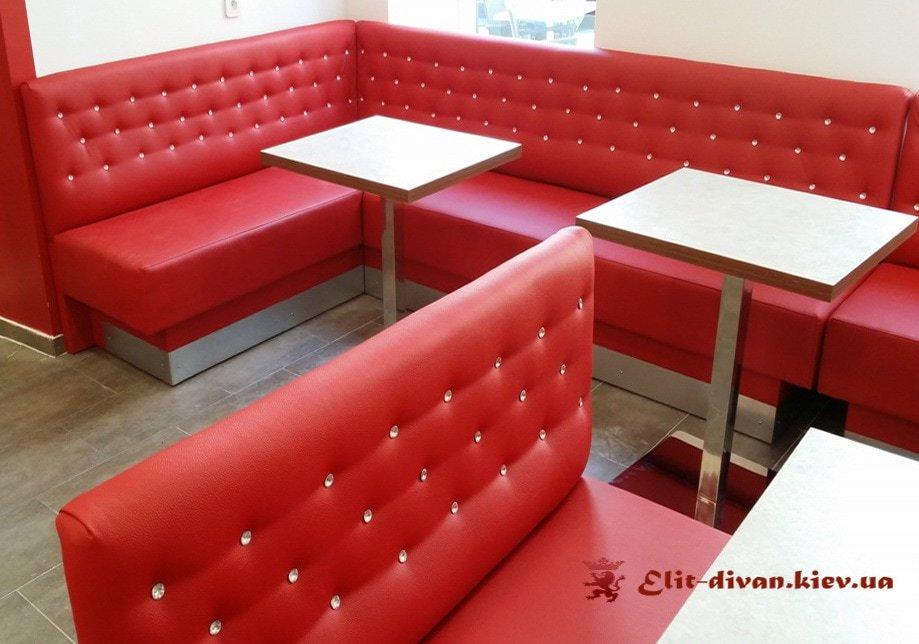 красные диваны для кафе на заказ Киев