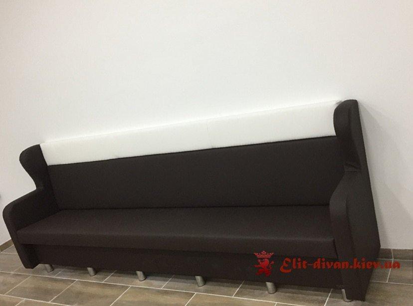 черно белый диван в кафе на заказ