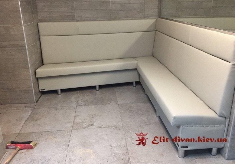 бежевый угловой диван на заказ