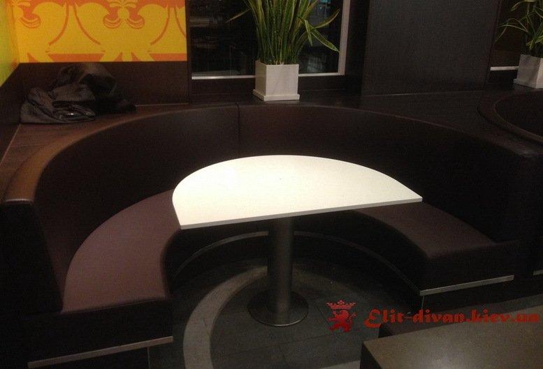 круглый диван в ресторан под заказ