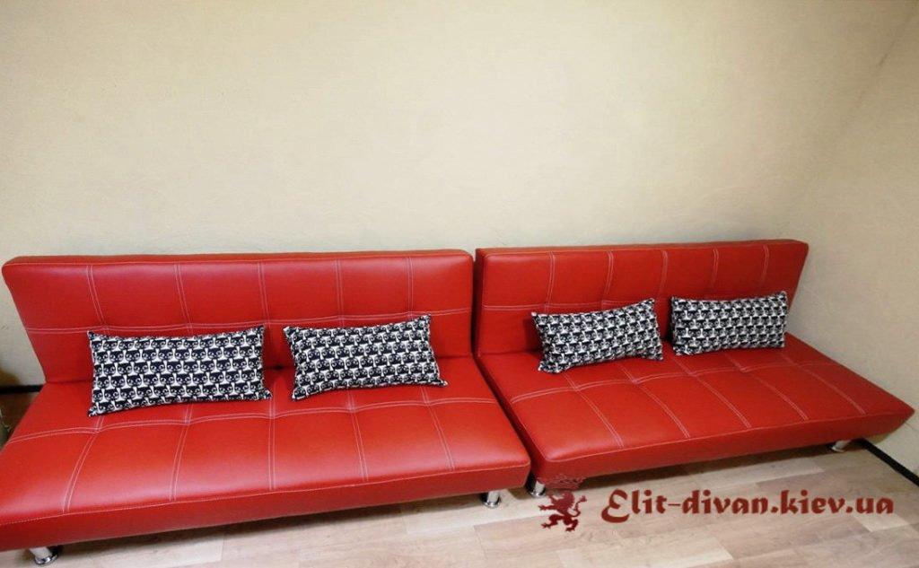 заказной красный диван Мариуполь прямой диван на заказ