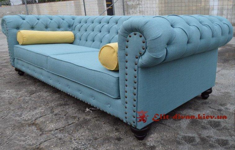 фотография голубого дивана на заказ