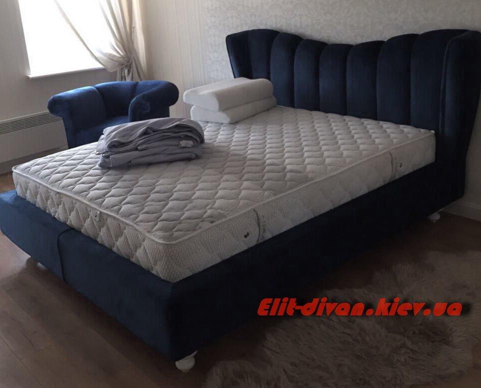 темно синяя кровать на заказ