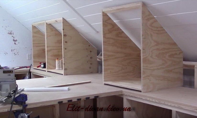 как сделать мебель на чердак самому