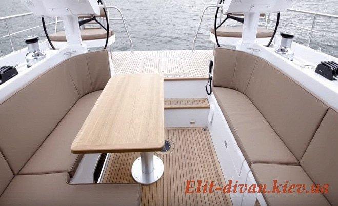 пошив мягкой мебели для яхт на заказ