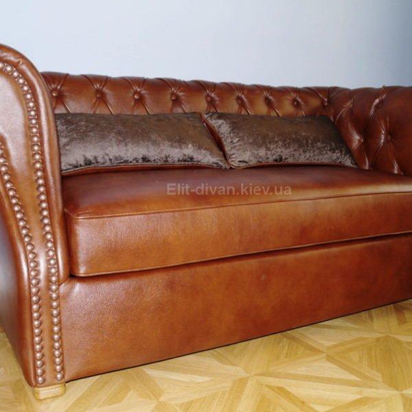 кожанный диван классицизм под заказ Киев
