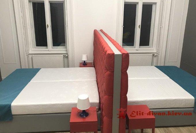 двойная кровать на заказ Вишневое