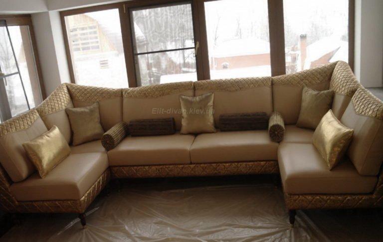 элитный п образный диван под заказ