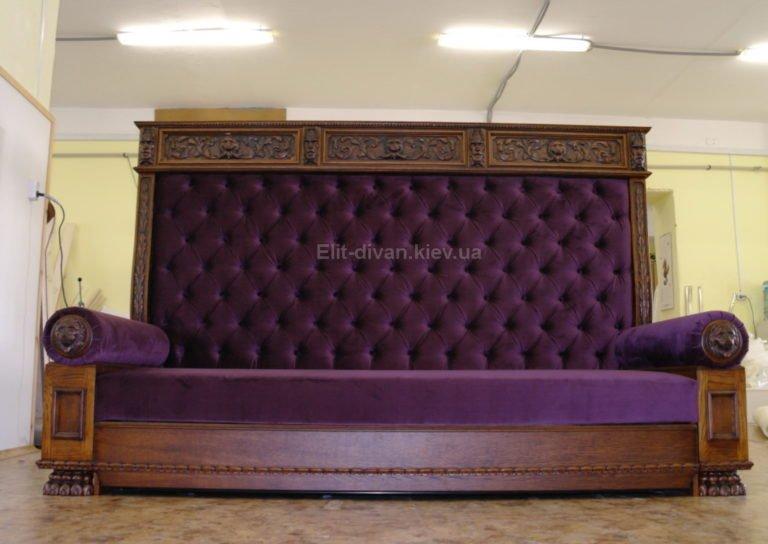 элитный прямой диван на заказ