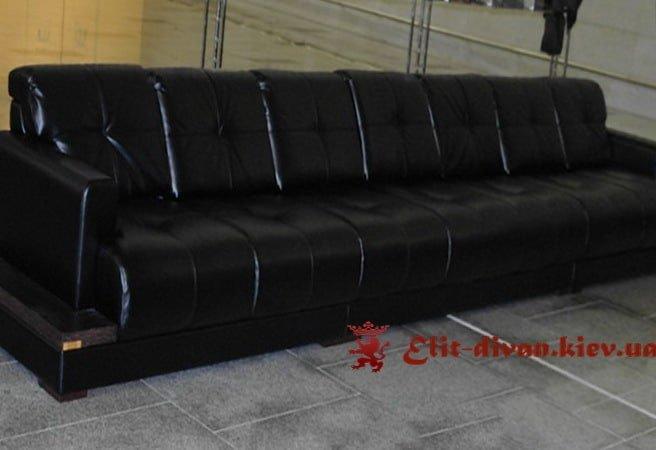 черный авторский диван