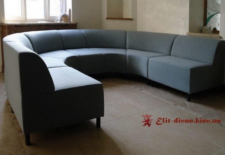 изготовление радиусного дивана по фотографии