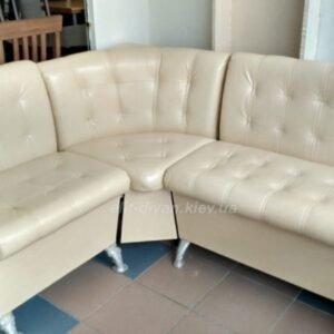 диван в офис из кожи белый