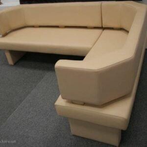 п образный бежевый офисный диван