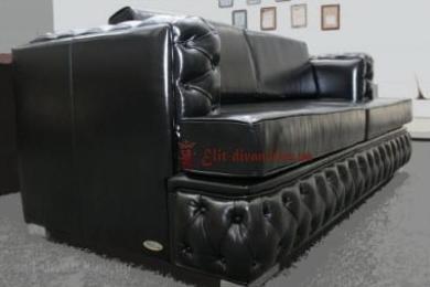 кожанный элитны диван на заказ