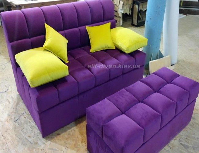 синий элитный диван