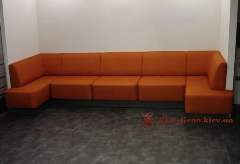 оранжеый офисный диван под заказ